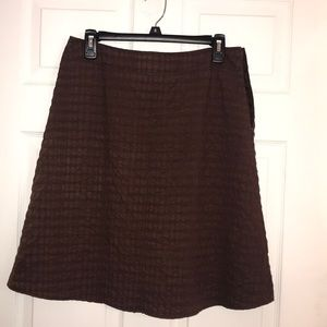 Brown lined skirt